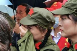 雨水与泪水交织:宝鸡纪念毛主席逝世44周年,感天动地!